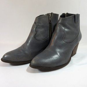 Steve Madden Grey Leather Ankle Boots 8.5